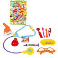 WEYA Funny Toys Doctor Play sets Simulation Medicine Box Role Pretent Play Doctor Toys Stethoscope Injections Children gifts(China)