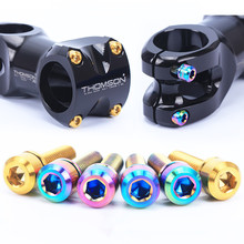 Risk titanium M5 * 18 mm mtb bike stem bolts for Fsa and Thomson bicycle stem 6 piece / lot(China)