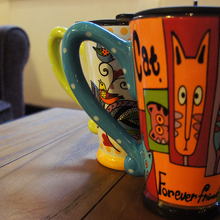 2016 fashion creative ceramic cups cute cartoon face expression water container lovers coffee mugs travel hot selling