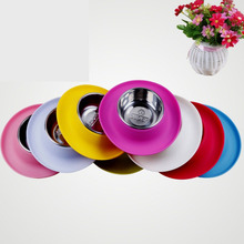 2016 Real Comedero Perro Hamster Gamelle Chien Super Pet Supplies Dog Bowl Antiskid Resistance And Leakproof Cap Shape Silicone(China)