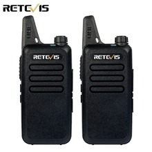2pcs Mini Walkie Talkie Retevis RT22 2W UHF 400-480MHz 16CH CTCSS/DCS TOT VOX Scan Squelch Two Way Radio Communicator A9121A(China)