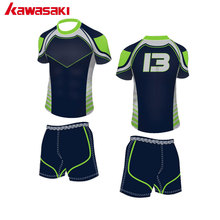 Original Kawasaki Sublimation Custom Kids Blank Rugby Jersey Sets Mens & Women Breathable Sports Practice Siuts Uniforms