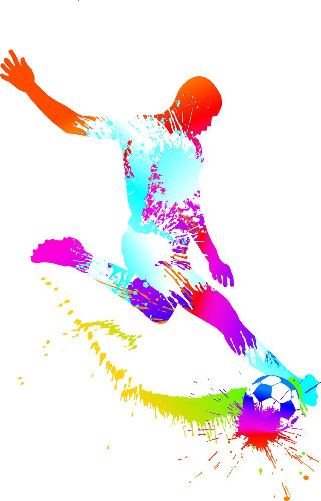 Charming football vector art pictures