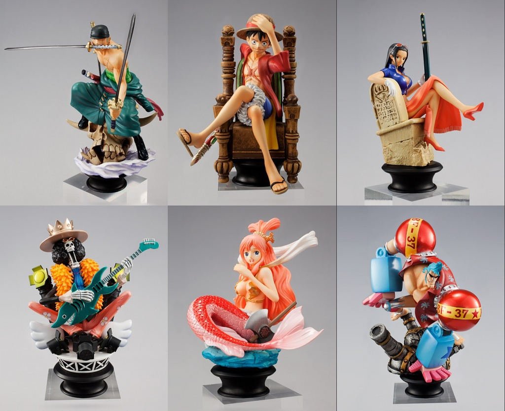 one piece luffy zoro robin  Shirahoshi FRANKY BROOK model pvc action figure classic collection toy doll<br>