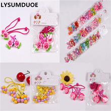 LYSUMDUOE Fashion Hair Accessories Princess Headband Kids Hair Clip Elastic Bands Polyester Headbands Flower Hairpin For Girl