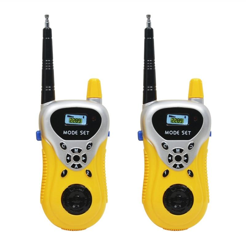 2pcs/lot Handheld Walkie Talkie Toys Children Educational Games Interactive Toy Cute Kids Radio Yellow Green Interphone Gift