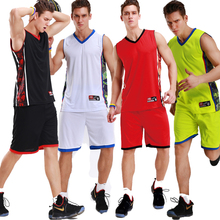 Men's Reversible Basketball Jersey Double Sided Kids Basketball Jersey Adults Sets High Quality Suit Shirt Custom Uniform