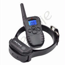New LCD Blue Display Dog Training Collar Remote Control Waterproof Dog Collar Electric Shock for Dog Heropie(China)