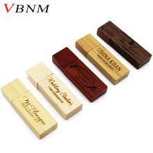 VBNM Custom LOGO Wooden memory Stick usb 2.0 usb flash drive pen drive pendrive 4gb 8gb 16gb 32gb U disk wedding gift business