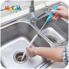 1pcs Sewer Cleaning Brush,Home Bendable Sink Tub Toilet Dredge Pipe Snake Brush Tools Creative Bathroom Kitchen Accessories(China)