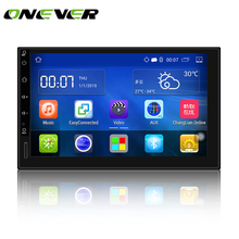 "Onever 7"" Android 5.1 Auto radio GPS Bluetooth Navigation Car Stereo Player Fully Touch Screen 2 DIN with WIFI USB Rear Camera(China)"