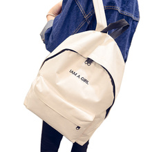 Hot sale I am a girl Design Women Backpack High Quality Nylon School bag Book Bag Portable Laptop Bag Gir'ls Rucksuck Backpack