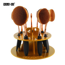 MAANGE Acrylic Cosmetic Dryer Makeup Brushes Holder Stand Cosmetic Holder Puff Eye Shadow Storage Oval Brush Holder Organizer