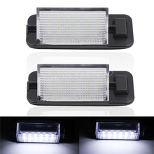 2 PCS Car Auto 18 LED 3528 SMD License Plate Light For BMW E36 White Lamp Free shipping