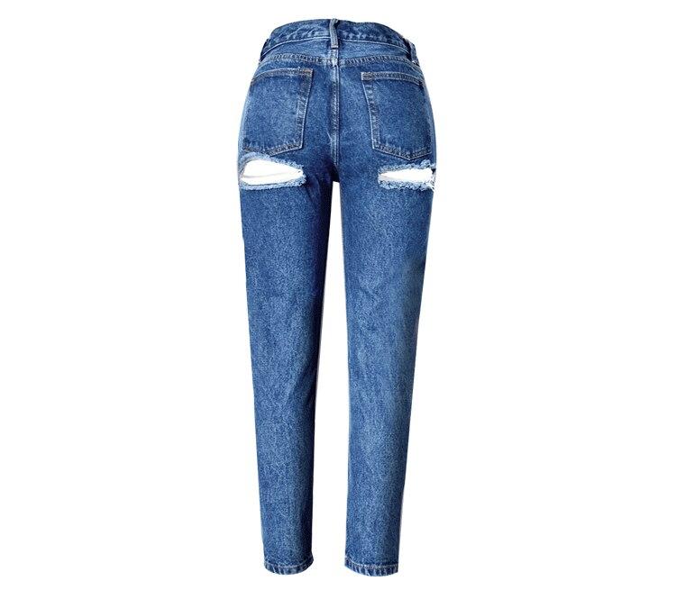 2017 Jeans Woman Ladies Cotton Sexy Denim Pants Ripped Boyfriend Jeans For Women High Waist Denim Jeans For Female TrousersÎäåæäà è àêñåññóàðû<br><br>
