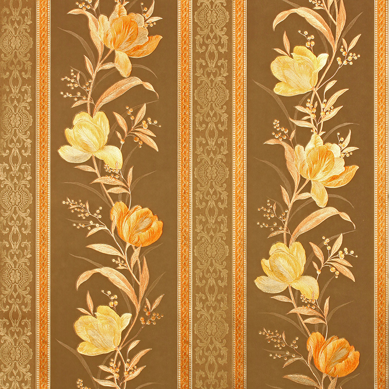 Chinese Luxury Floral Striped Wallpaper Luxury Home Decoration Golden Background Wallpaper Roll Living Room Bedroom wallpaper<br>