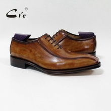 cie custom handmade goodyear welted high quality 100%genuine calf leather men's dress oxford color patina brown/black shoe OX-06(China)