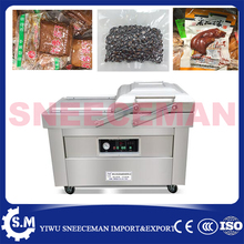 DZ-500 automatic stainless steel dry-wet food vacuum sealing machine commercial double room cooked vacuum sealing machine