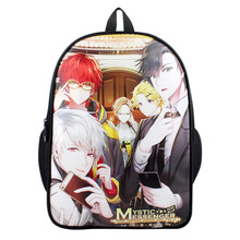 Hot Anime Game Mystic Messenger Backpack For Boy Girls Bags Full Character Cartoon School Bag Student Bookbag(China)