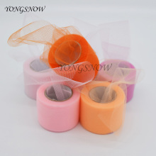 5cm * 25 Yards Colorful Tissue Tulle Roll Spool Tutu Pom Tulle Paper DIY Craft Wedding Birthday Party Decoration Supplies 9Z