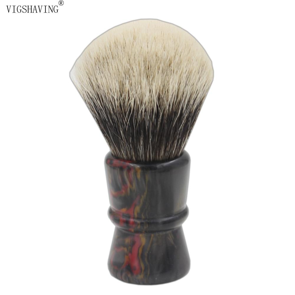 30mm Knot Resin Handle Finest Badger Hair  Shaving Brush for Barber Shave Tool<br>