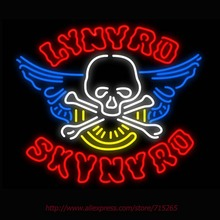Neon Sign Lynyrd Skynyrd Real Glass Tube Handcrafted neon signs Custom Health Store Display Sports ADVERTISE Free Design 31x24(China)