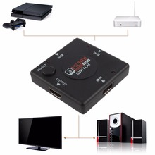 Mini 3 Switch High Definition 3 Port HDMI Switcher HDMI Splitter HDTV HD DVD 1080P Vedio Adaptor For PS3