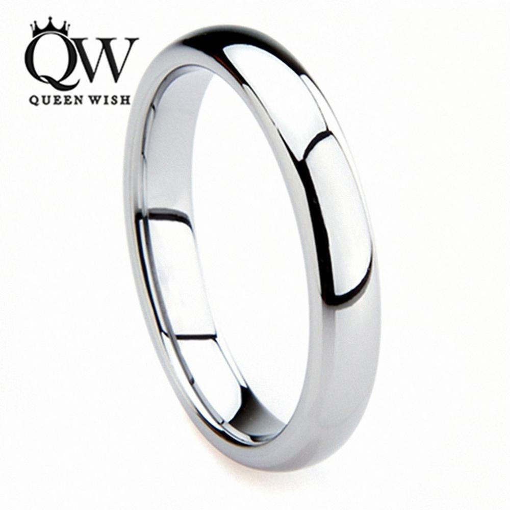 Queenwish Vintage Engagement Rings 3mm White Tungsten Carbide Unusual Engagement Wedding Mens Wedding Bands Jewellery(China)