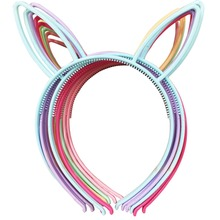 Spring Colors For Baby Girls PlasticHeadbands Rabbit Bunny Ears Headbands Fox Ears Head Band Children Accessories 12pcs/lot