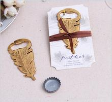 50 pcs peacock feathers bottle opener favors and elegant wedding present gift box supplies wedding favors party guests gifts