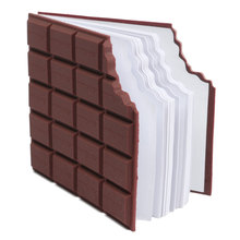 Kicute High Quality Convenient Creat Stationery Notebook Chocolate Memo Pad DIY Cover Notepad School Gift