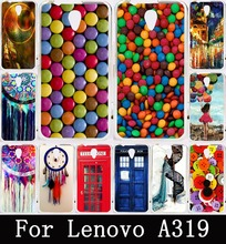 Dream Catcher Telephone Booth Painting Soft TPU Case for Lenovo A319 Covers Hard Plastic Case For Lenovo A319 Back Cover Skin