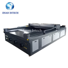 Jinan manufactures 1325 cutting double color board, PVC laser graving machine(China)