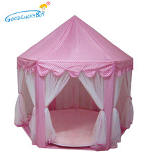 2017 New Play Tent Portable Foldable Princess Folding Tent Children Castle Play House Kids Gifts Outdoor Toy Tents For Kid(China)