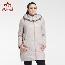 2018Astrid Fashion women winter Jackets Plus Size Long Coats wide waist Warm sequined Jackets office lady ukrain topbrand AM2653(China)