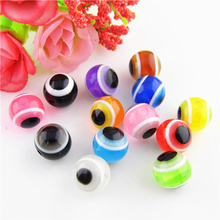 Pick 9 colors 8mm DIY Loose Beads Resin Acrylic Evil Eye Craft Beads Wholesale Jewelry Making Accessories 300pcs RS-02