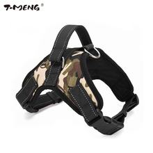 T-MENG Pet Products Medium Large Dog Harness Vest Reflective Breathable And Comfortable Mesh Pet Dog Leash Small Dog Harness K9(China)