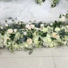 wholesale artificial flower table centerpiece wedding stage arch table runner pivilon backdrop flowers wall decoration(China)