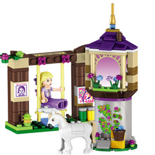 lele friends rus 148 Pcs 37000 Rapunzel's Best Day Ever Building Bricks Princess Building Block Girl Compatible with Lepin Toys