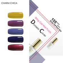 CHARM CHICA 155 Colors UV Gel Nail Polish Professional Salon Soak Off Gel Polish baby blue deep red Lacquer Varnish 6ml Nail Gel