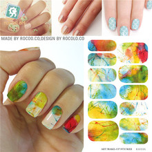 Minx Nail Water nail stickers Tips transfer foil Harajuku Watermark painting Manicure Sticker Decals Patch Accessories(China)