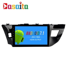 "Dasaita 10.2"" Android 7.1 Car GPS Player Navi for Toyota Corolla 2014-2016 with 2G+16G Quad Core Stereo Multimedia No DVD(China)"