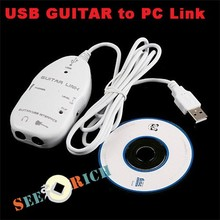 Electric Guitar Audio Effects Rregulator,Electric Guitar to Interface USB Audio Link Cable For MAC/PC MP3 Recording XP