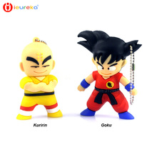 ieureka usb, Cute Cartoon Goku Kuririn Gifts pen drive 8GB 16GB 32GB 64GB Dragon Ball Usb Flash Drive Pendrive memory stick USB
