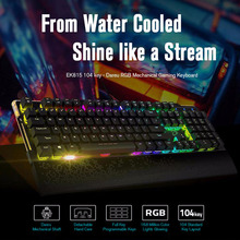 Dareu EK815 104 Keys rgb mechanical keyboard ergonomic usb backlit gaming keyboard for computer pc laptop gamer(China)