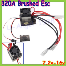 Wholesale 2pcs/lot 7.2V-16V 320A High Voltage ESC Brushed Speed Controller RC Car Truck Buggy Boat Newest Dropship
