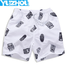 Buy Board shorts men swimming trunks sexy Geometric patterns mens swimwear White gym running short joggers bermudas masculina for $12.99 in AliExpress store