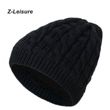 Fashion Warm Cap Unisex Elasticity Knit Beanie Hats Winter Hat For Men Skullies Beanies Women KC141(China)
