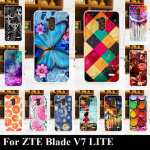 Soft Silicone TPU Case For ZTE Blade V7 LITE Color Paint Mobile Phone Cover DIY Supported Cellphone Housing Skin Shipping Free
