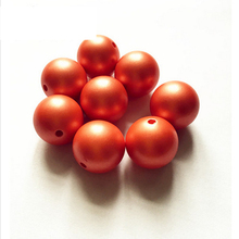 (choose size) 12mm/16mm/20mm orange color Acrylic Matte pearls Beads for Colorful Chunky Beads Necklace Jewelry(China)